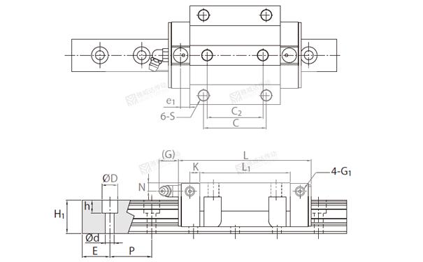 PMI重负荷型直线导轨MSR图纸