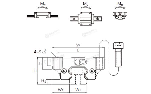 PMI重负荷型直线导轨MSA图纸3