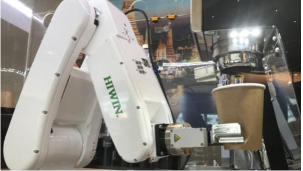 您见过装备上银微型导轨的咖啡机器人吗?